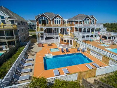 Photo for Ocean's 22: Oceanfront with heated pool, game room with pool table, elevator. Pets can come too!