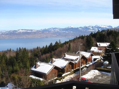 Photo for Smart 2-bedroom apartment, great lake views, minutes from ski runs and beaches