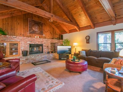 Photo for NEW LISTING! Woodland home w/hot tub & fireplace-minutes to beach, 3 dogs OK