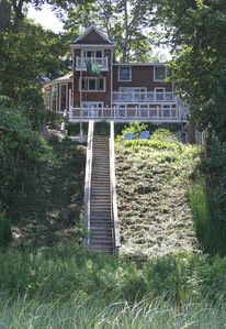 Gem directly on Lake Michigan:  The Pink House