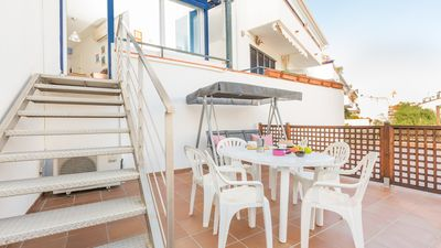 Photo for 2 bedroom Apartment, sleeps 4 with Air Con, WiFi and Walk to Beach & Shops