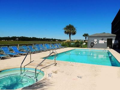 Photo for Bella Vista: Marshfront Condo 1 Block To The Beach. Pool & Hot Tub-1st Floor