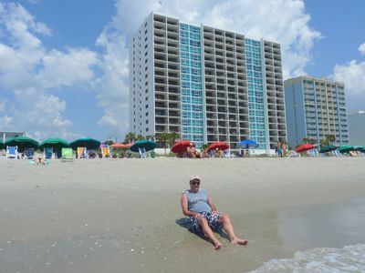 Photo for Large two bedroom condo with two balconies overlooking the beach