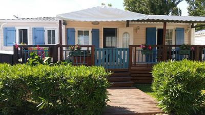 Photo for Mobile home ❤️❤️ High end ❤️❤️800 m SEA, camping la carabasse ****