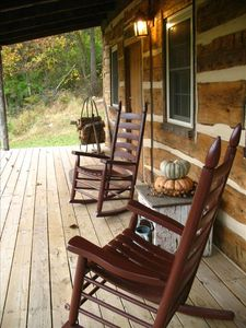 Relax & unwind on the front porch.