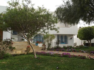 Photo for Charming villa with pool 200 m from Kantoui marina, 500 m from the sea