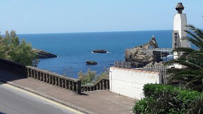 Photo for T3 with terrace, sea view, fully Biarritz center, old port, 20m from the beach.