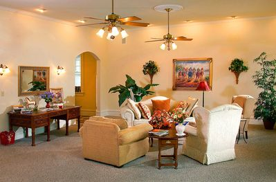 Our spacious Gathering Room has comfortable seating for planing or socializing.