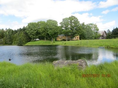 Photo for 450 Acre renovated 1840's 3 or 4 bedroom, 3 1/2 bath farmhouse, with large pond