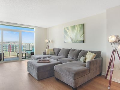 Photo for Beautiful Ocean and Marina Views Await in This Large High Rise Apartment