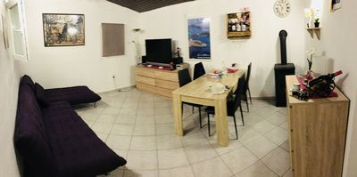 Photo for Whole house with 1500sqm garden, 2km from the sea, 3km to the center, very quiet location