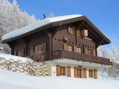 Photo for Directly on the ski slope and the hiking trails Large family chalet in Bellwald