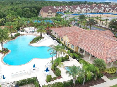 Photo for Bright and sunny condo w/ shared pool, hot tub, & more  - minutes to Disney!