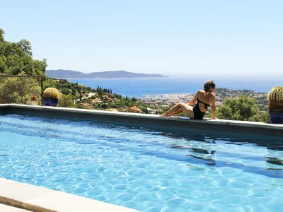 Photo for Luxury villa near Saint Tropez, Swimming Pool, Big Garden Super sea view, 220m2