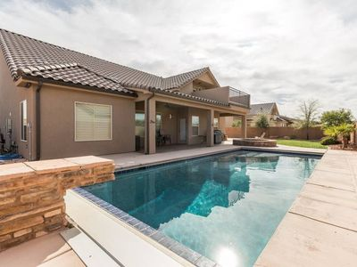 Photo for Elegant home with private pool near Sand Hollow and Zion