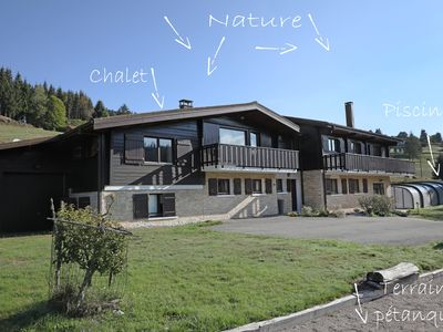 """Photo for 250m2 Grand Chalet 12/14 pers. Pool Sauna Jacuzzi rates """"ALL INCLUSIVE"""""""