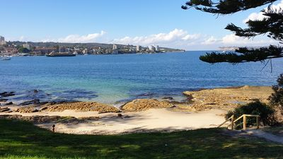 Photo for Manly absolute beachfront, opposite beautiful cove. Short level stroll to ferry
