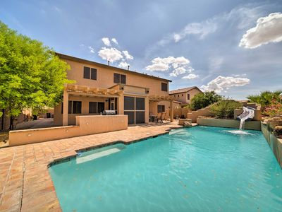 Photo for Goodyear Home w/Private Pool, Water Slide & Games!