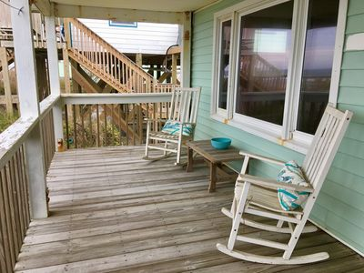 Photo for Ocean front & pet friendly in Topsail Beach. Great August mid-week prices !