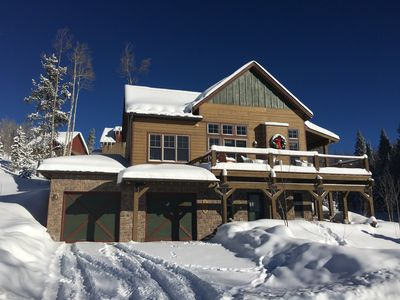 Deep Snow and Blue Skies. Welcome to our Mountain Cabin, surrounded by Nature.