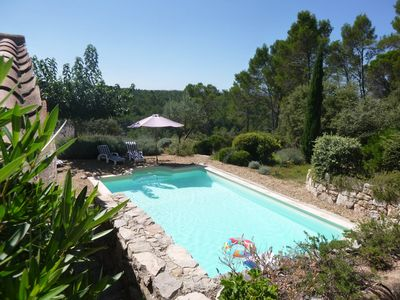 Photo for Villa des Cyprès, private pool, magnificent views, quiet location