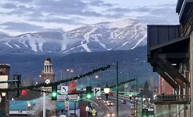 Photo for Downtown Whitefish condo with huge views of Big Mountain from the deck !!