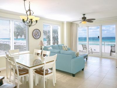 Photo for ☀Grandview East 101☀ 3BR BeachFRONT for 11! Heated Pool- Gulf Views- Fun Pass