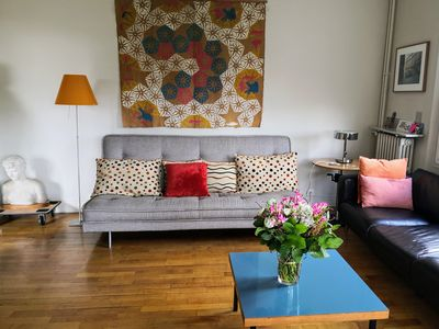 Photo for A very light, quiet apartment in a green district of Paris