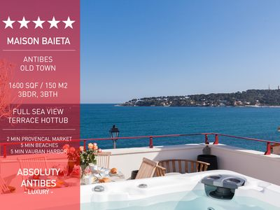 Photo for New - Beautiful Apartment 1600 sqf with Sea View Terrace, Sauna and Hot Tub