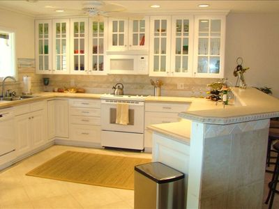 Large, open kitchen - newly remodeled and fully stocked with cooking essentials