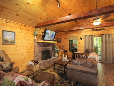 Photo for Newly Listed & Remodeled! 5 Miles to Pigeon Forge, Fishing Pond, Pool Table & WiFi ~ Black Bear Paws