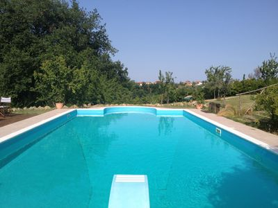 Photo for Country house with swimming pool surrounded by an orchard