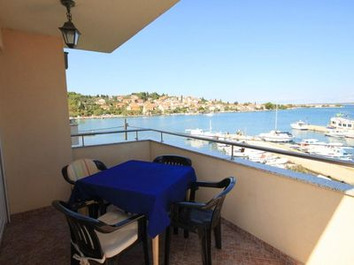 Photo for One bedroom apartment with terrace and sea view Preko, Ugljan (A-8315-d)