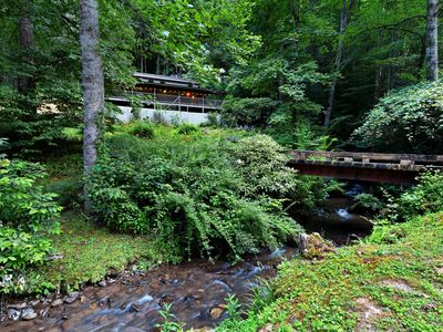 Photo for NEW LISTING! Secluded, dog-friendly home w/ outdoor dining area, & a firepit!