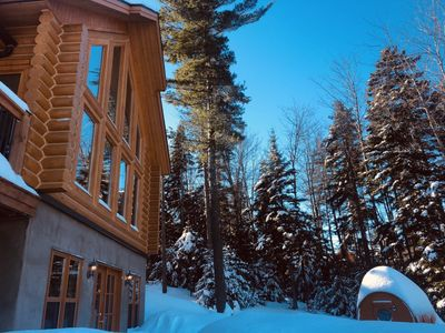 Photo for Chalet White Wolf at Fiddler Lake, SPA & private swimming pool