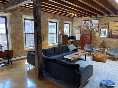 Photo for URBAN OASIS: 1,500 SF TriBeCa Penthouse Loft 3Bed, 2Ba with private rootop deckk