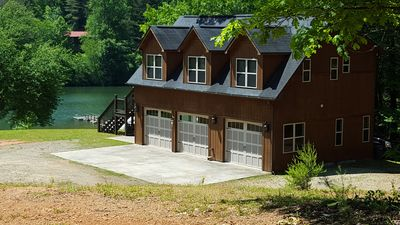 Photo for Lake Front Home. Nice covered Dock. Bring Your Boat! Private Cove With Mtn Views