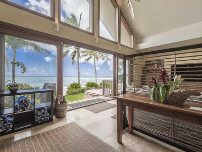 Photo for Aloha Beachfront Bliss - Newly Opened Calendar! Incredible Luxury home on the beach!