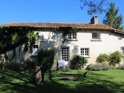 Photo for 3 bed cottage with pool and tennis court. 4 properties onsite 4 - 10 bedrooms