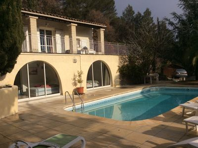 Photo for True PEACEFUL with POOL overlooking Lake CARCES