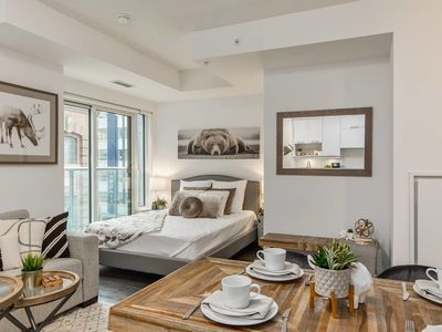Photo for RATE DROP! - Clean and Sanitized - Classy & Rustic Downtown Condo