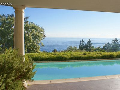 Photo for Agay, Anthéor Villa 5 rooms, pool sea view