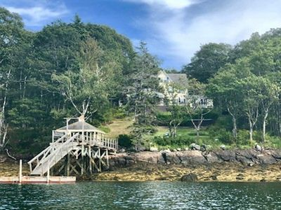 Photo for Vintage Victorian Oceanfront with Deep Water Dock and Pool