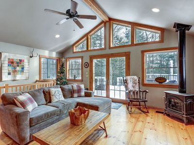 Photo for NEW LISTING! Classic Vermont home w/hot tub, deck & wood stove-near Okemo Pond