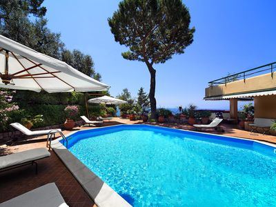Photo for Villa Pisani Amalfi Coast  historical 6 bedrooms villa with pool and amazing sea views on Capri