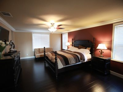 Master bed with king size bed, extra 2 sofa beds