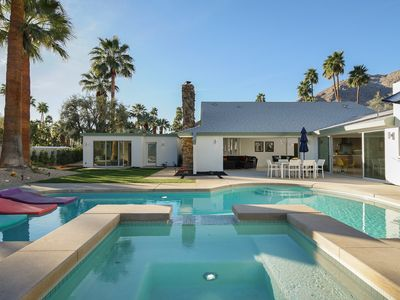 Photo for Luxury Palm Springs Vacation Home in Vista Las Palmas with Casita, Rooftop Terrace, and Mountain Vie