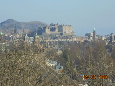 View of Edinburgh Castle from the bedroom