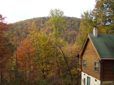Photo for Beautiful Log Cabin secluded in the mountains of Blowing Rock