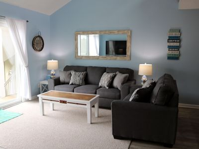 Photo for Bay views, beautiful sunrises and sunsets, short walk to beach, sleeps 11